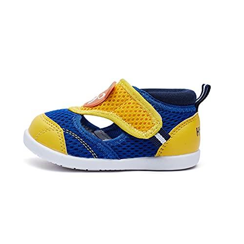 WXYPP Sandali Funzionali per Bambini Estate 1-3 Anni Scarpe Sportive per Bambini Traspiranti Antiscivolo Fit (Color : Blue, Size : 12cm)