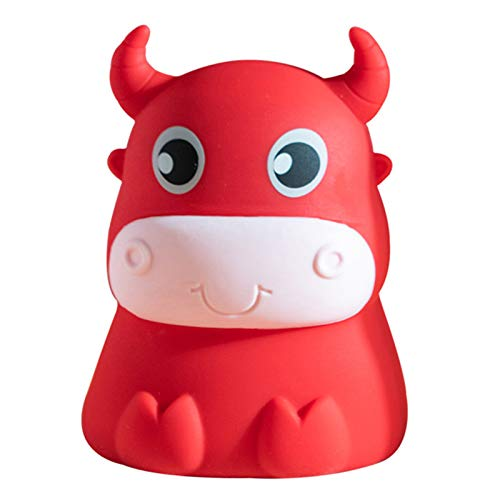 Speaklaus 3D Cow Led Night Light Soft Silicone Colorful Lights Touchs Sensor for Home Bedroom Decoration