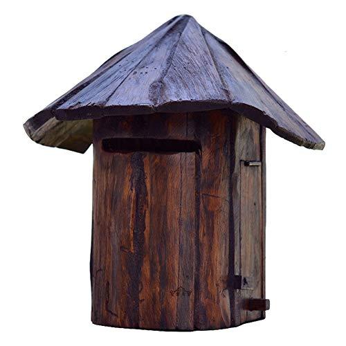 Briefkasten Wandbriefkästen Retro Hölzern An der Wand Montiert Briefkasten für Haus, Veranda, Rustikal Briefkasten Briefkastenhalter Außerhalb Hängendes Dekor