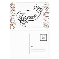 ブラックパンサーの自然動物のシルエット 公式ポストカードセットサンクスカード郵送側20個