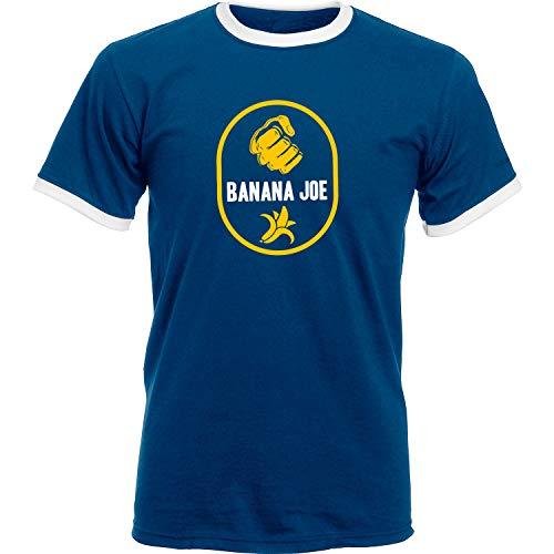 Banana Joe Original Premium Soccer Kontrast T-Shirt #2 Navyblau/Weiss L