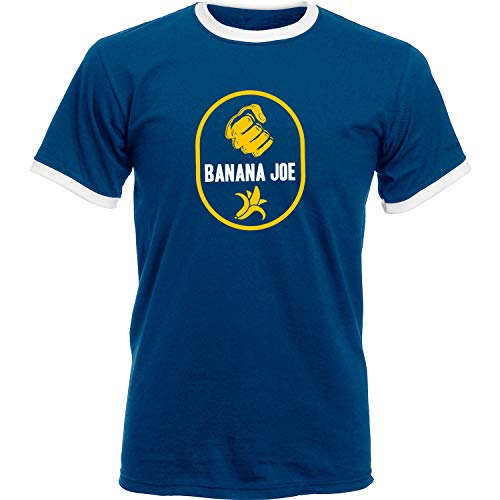 Banana Joe Original Premium Soccer Kontrast T-Shirt #2 Navyblau/Weiss XL