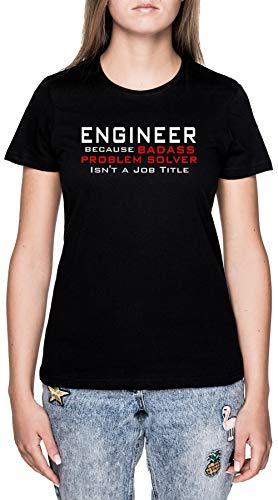 Engineer Nero Maglietta T-Shirt Donna Maniche Corte Black T-Shirt Women's