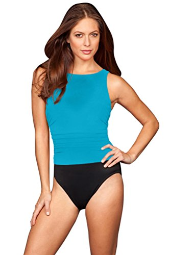 Miraclesuit Lagoon Colorblock DD-Cup Regatta Underwire One Piece Swimsuit Size 10DD Blue