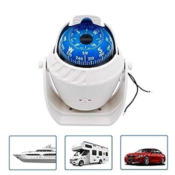 Maso Boussole de navigation électronique pour voiture, bateau, marine, militaire, LED, lumière rouge pivotante, pour camping, randonnée, alpinisme