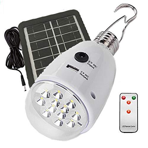 DUV LD-04 et et Rechargeable, Torche 2.5W solaire, portable pour les Activites Exterieur et Interieur Comme Camping,Pêche,Bricolage, Chantier, Set de 8