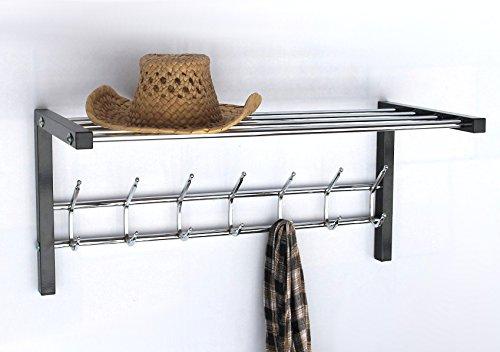 DanDiBo Wandgarderobe mit Hutablage Art.389 Garderobe 70 cm Kleiderhaken Wandregal Haken