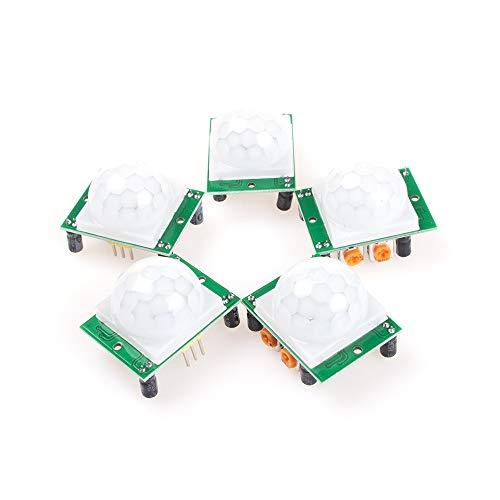 ANGEEK 5 módulos de sensor de infrarrojos para Arduino HC-SR501.