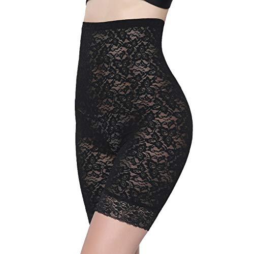 Slip Shorts for Women Short Leggings Mid Thigh Legging Plus Size Lace Undershorts Black