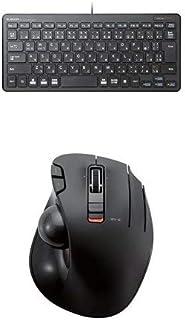 エレコム 有線超薄型ミニキーボード TK-FCP096BK & エレコム ワイヤレストラックボール(親指操作タイプ) M-XT3DRBK セット