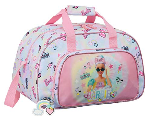 safta 712110273 Bolsa de Deporte de Barbie Girl Power, 400x230x240mm, multicolor, talla única
