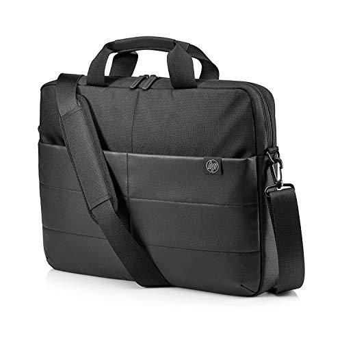 """HP - PC Classic Briefcase, Borsa Porta Computer fino a 15.6"""", Scomparto Dedicato al Notebook, Tasche per Organizzazione Accessori, Cerniera Rinforzata, Materiale Impermeabile, Nero"""
