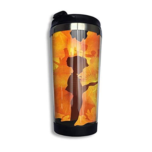 Die Schlümpfe Kaffee Reisebecher Tasse Edelstahl Vakuumisolierter Becher 13,5 Unzen