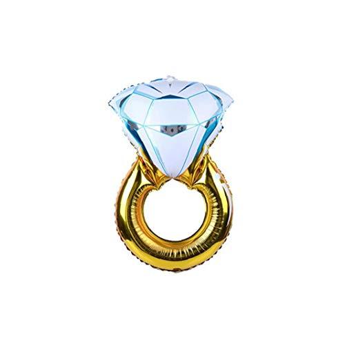 Heall 110 * 60cm Globo de Helio Anillo de Diamante de la Hoja de Suministros de la Boda Fiesta de cumpleaños de Compromiso de la Novia Anillo Globos Festivel Decoración
