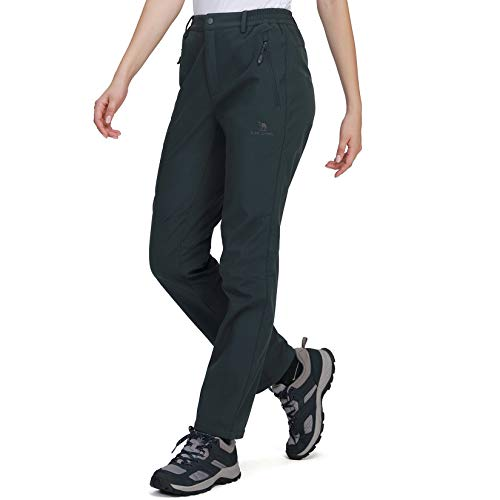 CAMEL CROWN Mujer Pantalones de Softshell Impermeables con Forro...