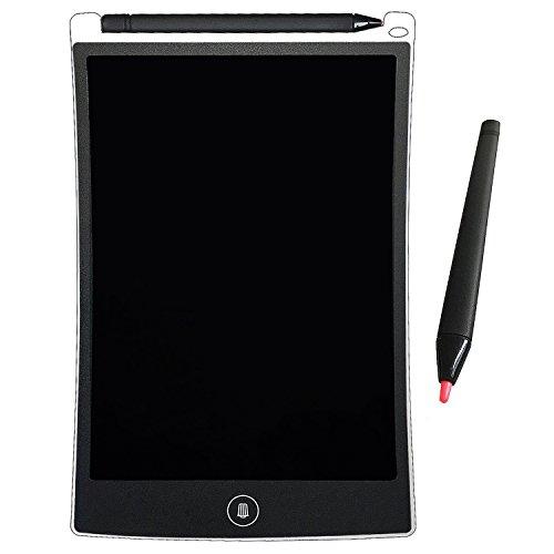 AIJAKO Tableta de Escritura LCD 8.5 Inch Gráfica Dibujo Tablero Oficina Touch Pad Magnéticos Pizarra para la Nevera Memo Pad Electrónico con Lápiz para Niños Adulto Oficina Escuela (Blanco)