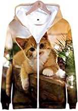 Christmas 3D digital print cardigan sweater