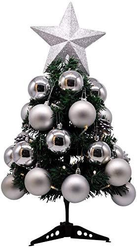 OYEFLY - Albero di Natale artificiale, 60 cm, mini albero di Natale con 8 modalità di illuminazione per Natale, Avvento, luce d'atmosfera, albero di Natale