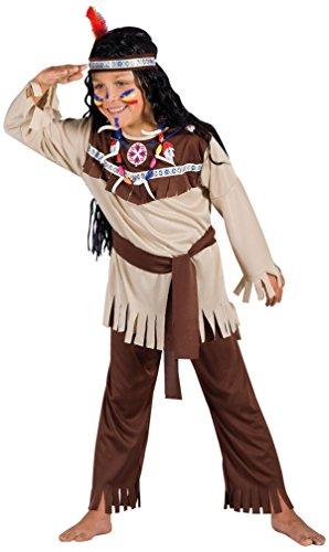 Ciao-Indiano costume travestimento bambino (7-9 anni) con make-up Carnevale, Marrone, Beige, 1