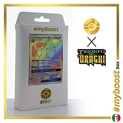 Salamence-GX 73/70 Arcobaleno Segreto - #myboost X Sole E Luna 7.5 Trionfo dei Draghi - Box di 10 Carte Pokémon Italiane