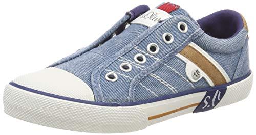 s.Oliver Unisex-Kinder 5-5-43205-22 802 Sneaker Blau (Denim 802), 34 EU