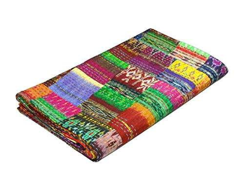 Colors Of Rajasthan COR's Hippie Bedspreads Kantha Quilt