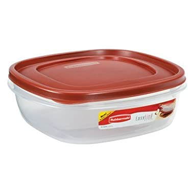 Rubbermaid 7J71 Easy Find Lid Square 9-Cup Food Storage 2 Containers