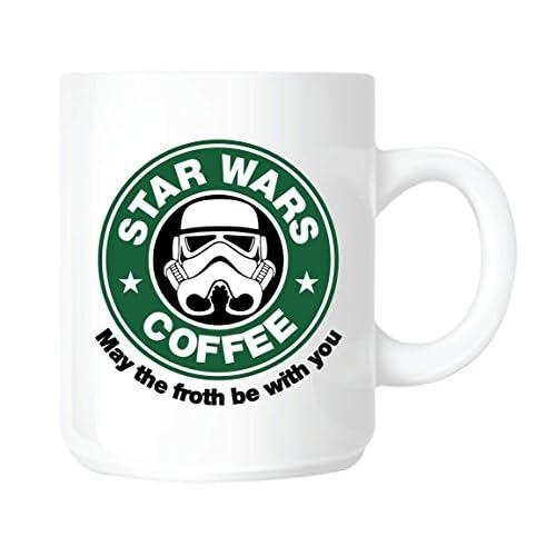 Top Banana - Tazza in Ceramica, Disegno Star Wars con Logo Starbucks Coffee