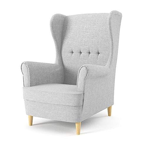 Sofini Ohrensessel Milo! Sessel für Wohnzimmer & Esszimmer! Skandinawisch, Relaxsessel aus Webstoff, Best Sessel! (Lux 32)