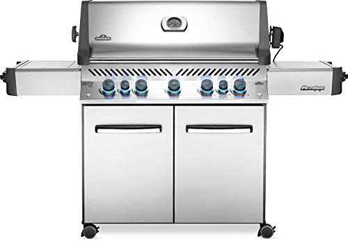 Napoleon P665RSIBPSS Prestige 665 RSIB Propane Gas Grill, sq. in + Infrared Side and Rear Burner, Stainless Steel