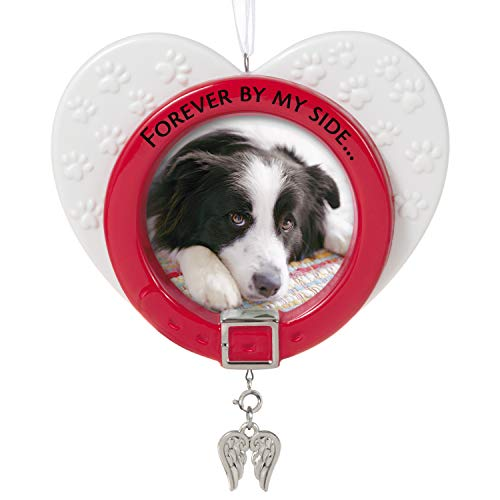 Hallmark Keepsake Christmas Ornament 2021, Forever By My Side Pet Memorial Photo Frame, Metal