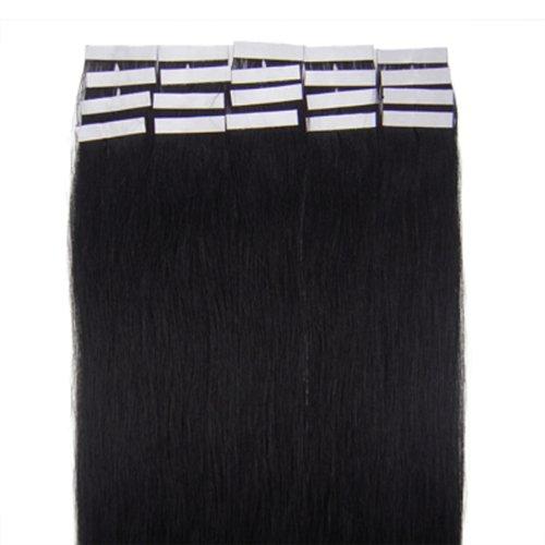 Best Qualité 5 A * * * * * * * * 50,8 cm Noir Jet Black 01 Allemand Bandes 100% Premier Remy extensions de cheveux humains vendeur Britannique