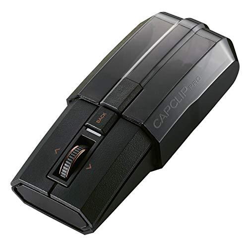エレコム マウス Bluetooth (iOS・iPadOS対応) 充電式 静音 チルトホイール(横スクロール) プレゼンモード搭載 Ultimate Blue LED 4ボタン CapClip Pro ブラック M-CCP1BBBK