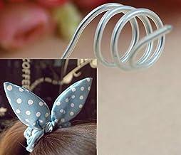 without brand 20 Metros Cubiertos de Caucho Rabbit Ears Cordones de Aluminio Hilos for Bricolaje Arcos del Pelo.Hecho a Mano Material (tamaño : 3.0mm)