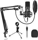 USB Microphone Kit, MAONO AU-A04 Plus Podcast PC Condenser Mic Cardioid 192kHz/24bit Plug