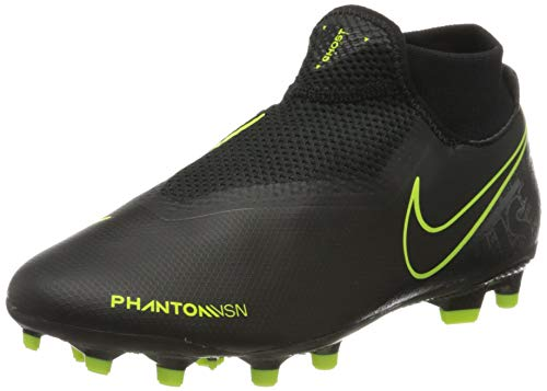 Nike Men's Phantom VSN Academy DF FG/MG (11, Black/Black/Volt)