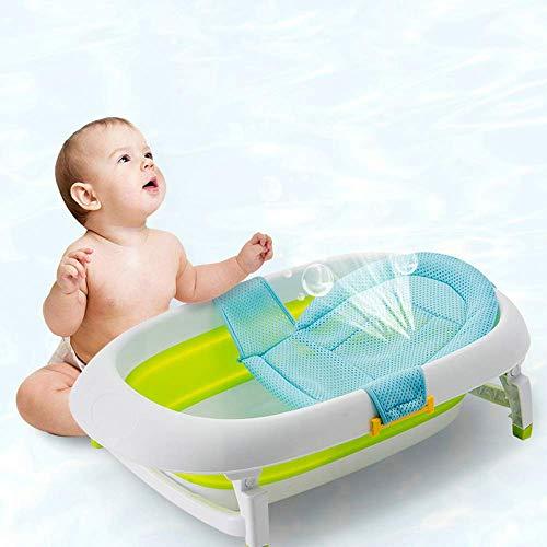 Neugeborenes Baby-Badewanne Dreieck Bad Netto-Baby-Dusche Badewanne mit Dusche Rack Netztasche Schlupf Schultern T Typ Liege