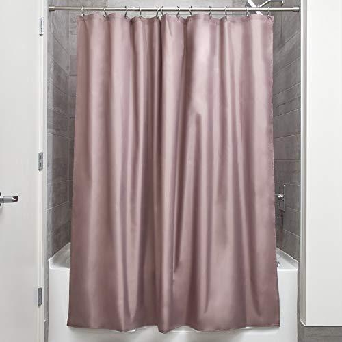 iDesign Duschvorhang aus Stoff | wasserdichter Duschvorhang mit verstärktem Saum | waschbarer Textil Duschvorhang in der Größe 183,0 cm x 183,0 cm | Polyester taupe