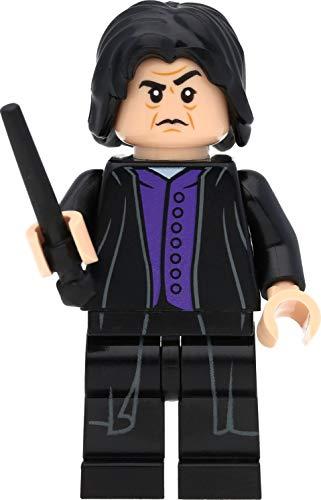 LEGO Harry Potter Minifigur Professor Severus Snape (dunkelviolettes Hemd) mit Zauberstäben
