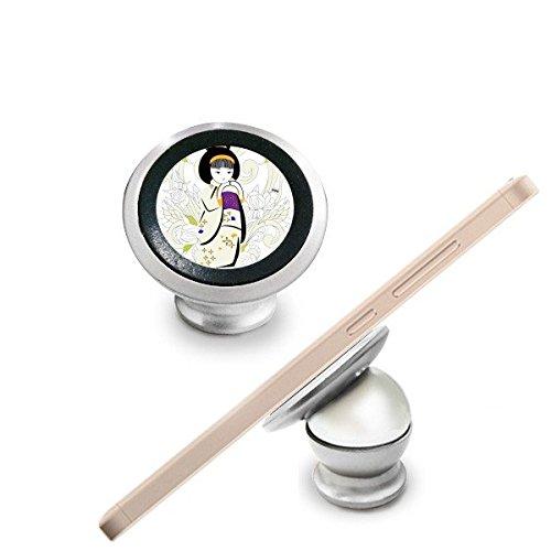 Soporte magnético para salpicadero de coche con diseño de kimono japonés con diseño de crisantemo para teléfono móvil, rotación de 360 grados, de la cultura japonesa
