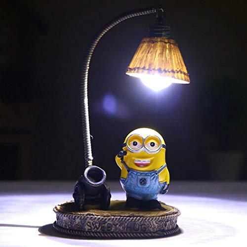 Nachtlicht1pcs Cartoon Nachtlicht Hause Decor Fixture Harz Lampe für Kid Childern Zimmer LED Harz Minions Nacht Licht Dekoration Random delivery