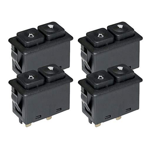 KUANGQIANWEI Botonera elevalunas Interruptor 4pcs Ventana de energía Techo corredizo Iluminado Fit for BMW E30 E24 E28 Desde 09/1986 61311381205/61 31 1 381 205 (Color Name : Black)