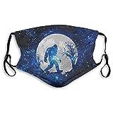 Respirador de luna llena de Sasquatch para hombres y mujeres con correas ajustables