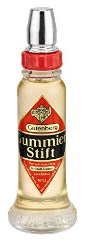 Gutenberg 70728 Kristal rubber lijmstift, glazen fles, 56 g