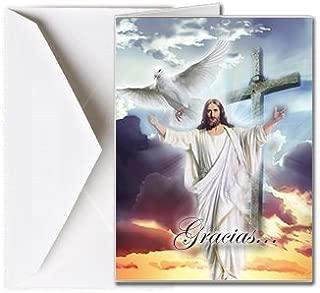 Tarjetas Funerales de Agradecimiento, Tarjetas de Gratitud, Tarjetas de Gracias (25 Cantidad) FTKC1151ES Dios dando la bienvenida (En Blanco - Impreso por usted)