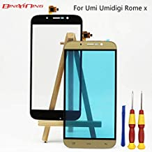 AiBaoQi for Umi Umidigi Rome x Touch Screen Digitizer Glass Panel Lens Assembly Replacement (Gold)