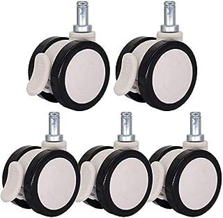 C5 stuks Aster/Castor2,5/3 inch draaiwiel / rem castersPU/nylon inzetstuk Rod Casters dubbele wiel discsWear robuust en Si...