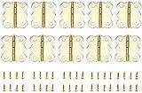10 unids gabinete de puerta de oro bisagras decorativas 4 hoyos mariposa joyería cajas de madera bisagras decoración de muebles con tornillos (Color : 25x20mm)