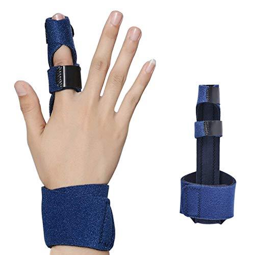 Libershine Férula de Dedo, Dedo Extensión Férula para Dedo en Gatillo, Dedo de Martillo, Fracturas de Dedos, Cuidados Postoperatorios y Alivio del Dolor Soporte para Dedo Férula la Mano