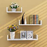 Holdfiturn 3Pcs Floating Wall Shelves 42/32/22cm Wall Mounted Invisible Shelf for Books Photos Candles Ornaments